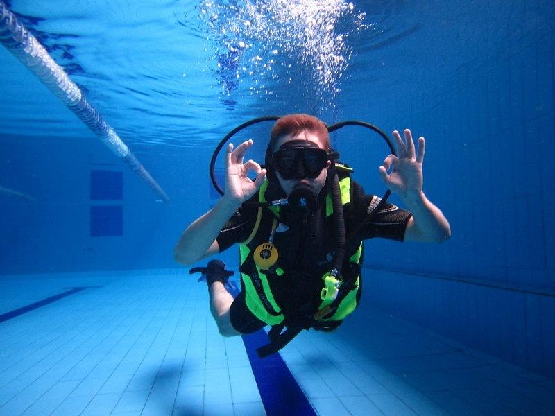 Контроль плавучести на мелкой глубине